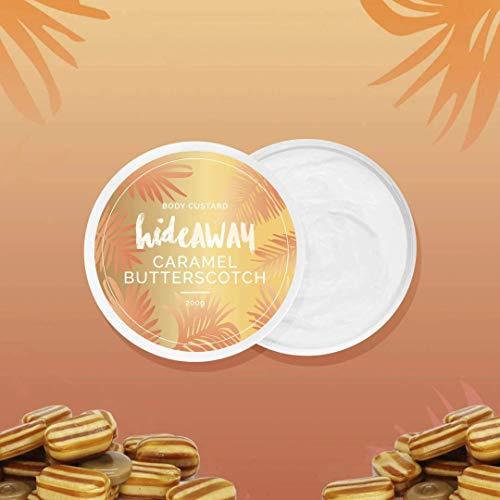 HideAWAY Whipped Body Custard - Creamy Skin Moisturizer that Smells Amazing - Shea Butter, Cocoa Butter, Almond Oil - Vanilla Caramel 200g (7oz)
