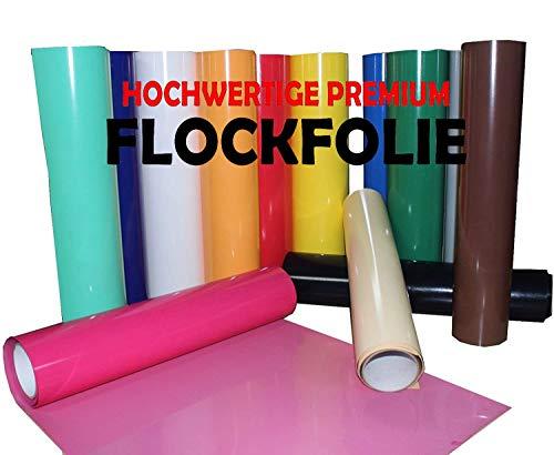 (25,80€/m²) Flockfolie POLI TAPE 0,5m x 1m Tubitherm PLT Poli Flock Folie vom Fachhandel für T Shirt und Bekleidung (schwarz 700)