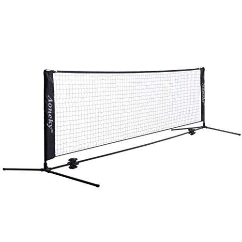 Aoneky Mini Portable Tennis Net for Driveway - Kids Soccer Tennis Net