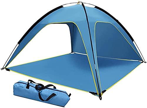 QPP-CL Pop Up Beach Tent, portátil Anti instantáneo Pop Up Sun Shelter, con Bolsa de Transporte de Carpa de Baby Beach para 3-4 Personas