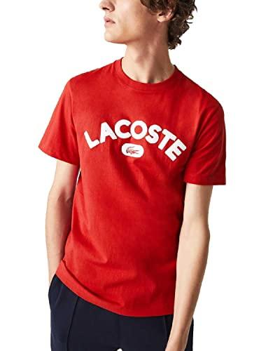 Lacoste TH7046 Camiseta, Rouge, S para Hombre