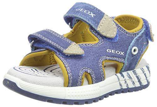 Geox J ALBEN Boy B, Sandali Punta Aperta Bambino, Blu (Avio/Beige C4289), 33 EU