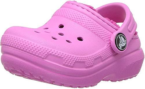Crocs Classic Lined Clog K, Zuecos Unisex niños, Rosa (Party Pink/Candy Pink), 33-34 EU
