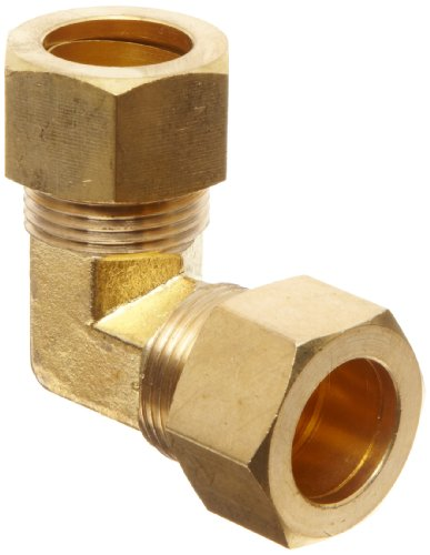 Anderson Metals - 50065-10 Brass Tube Fitting, Elbow, 5/8