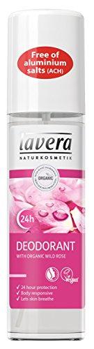lavera Fresh Deo-Spray, 24-Stunden-Deo, Bio-Wildrose, vegan, Biohautpflege, natürliche und innovative Kosmetik, 75ml