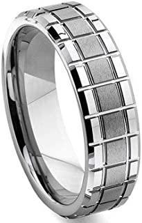 Eric Designs Tungsten Matrix Wedding Band Ring