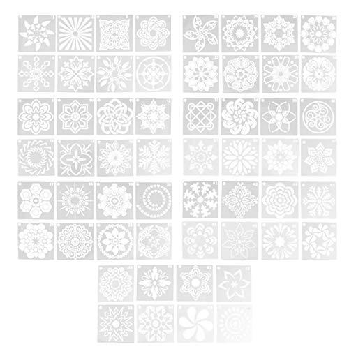 Artibetter 56 Stks Mandala Dot Schilderen Sjablonen Stencils Voor Diy Schilderkunst Projecten Wit