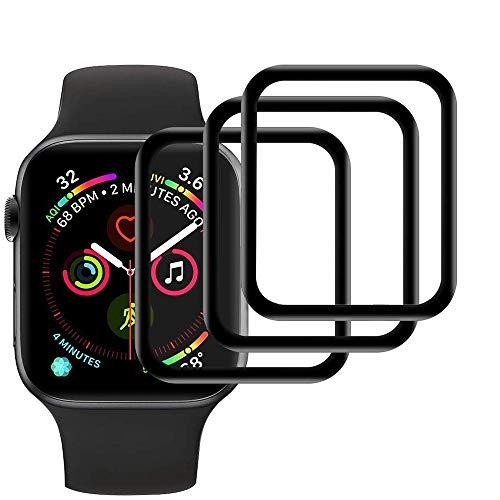 【3 pezzi】 Film protettivo in vetro temperato compatibile con Apple Watch Series 3/2/1 42mm, [antigraffio], [ tocco sensibile], [senza bolle], [applicazione facile], [Durezza 9H],[Copertura completa]