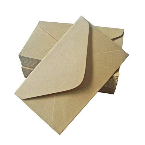 SUPVOX 100 stücke Kraftpapier Umschlag Einladungskarte Postkarte Umschlag für Schreiben Brief