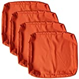 ClawsCover Patio Cushion Covers Indoor Outdoor Water Resistant Patio Chair Pillow Seat Cushion Cover UV Resistant Replacement Cushion Slipcovers,20' Lx 18' W x 4' H,Orange,4Pack