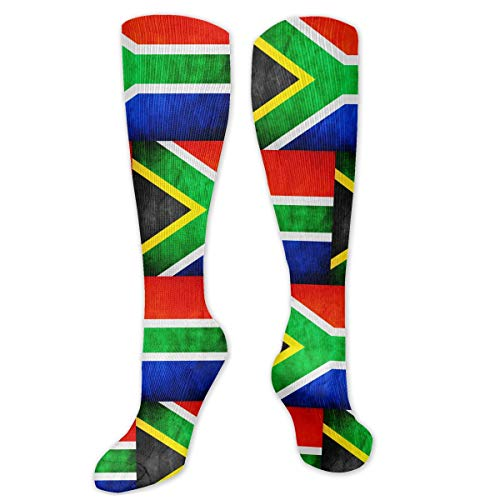 Flag Of South Africa Casual Cotton Crew Socks Best For Crossfit Outdoor Activities Hiking -Running & Fitness
