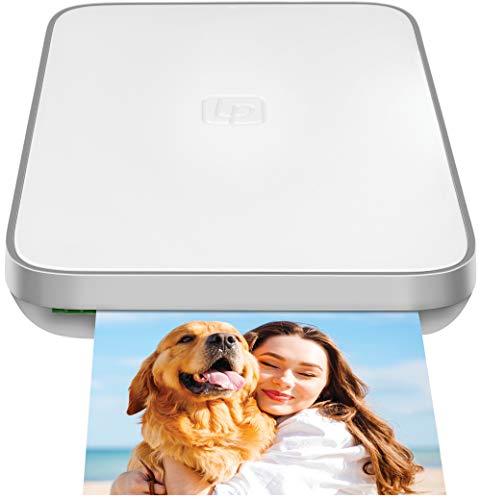 Lifeprint 3x4.5 Tragbarer Foto- und Videodrucker für iOS- und Android-Geräte. Erwecken Sie Ihre Fotos mit Augmented Reality zum Leben - Weiß
