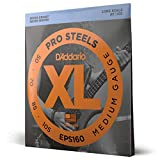 Best Bass Guitar Strings - D'Addario EPS160 ProSteels Bass Guitar Strings, Medium, 50-105 Review