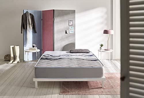 ECCOX - Colchón Viscoelástico Fresh - Altura 17 cm - Núcleo Especial Pro-Sensitive High Resilence Foam - Acolchado Visco Natural de Alta Densidad - Firmeza Medio-Alta (90x180 cm)