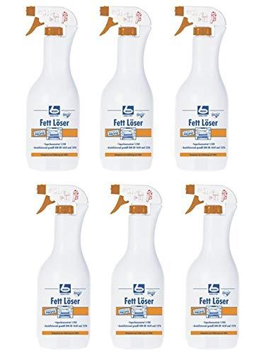 6 x DR. BECHER Fett Löser   Fettlöser in 1L Flasche Sprühflasche   entfernt problemlos starke Fettverschmutzungen   plus Gratis Thank You Aufkleber