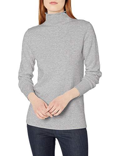 Amazon Essentials Long-Sleeve 100{edad4ac026d87d19ddf7c02dbb3267f3e59f704ed03beddfcdd2087888c25936} Cotton Roll Neck Sweater Pullover-Sweaters, Hellgrau Meliert, XS