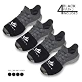 2 FEET Sock for Dancing on Smooth Floors | Over Sneakers, Smooth Pivots & Turns to Dance with Style on Wood Floors | Protect Knees (4 Black Pairs Pack)