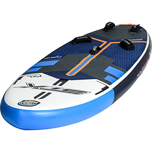 STX Windsurf 280 Aufblasbares Stand Up Paddle Board SUP-Paket - Board, Tasche, Pumpe & Leine/Riemen - Blau Orange - Unisex