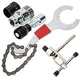 Práctica herramienta de corte de cadena de 5 piezas para bicicletas, a prueba de óxido, para mantenimiento de bicicletas, para quitar el pasador de la cadena, para instalar el pasador de la