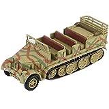 XHH Modelo de Tanque Modelo de Tanque Militar, Escala 1/72 SD Kfz 7 alemán de 8 toneladas, Modelo de plástico alemán de Media Pista, Juguetes y Regalos, 4.7 Pulgadas x 1.5 Pulgadas