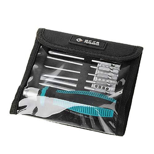 Qianqian56 Nieuwe 8 Magnetische Boor Bits + 1 Precisie Schroevendraaier Torx Kit Set Reparatie Gereedschap