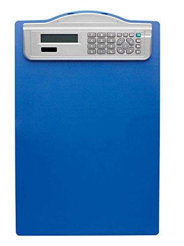 Alco-Albert 5518-15 Klemmbrett mit Solarrechner, DIN A4, Maßeinteilung, blau