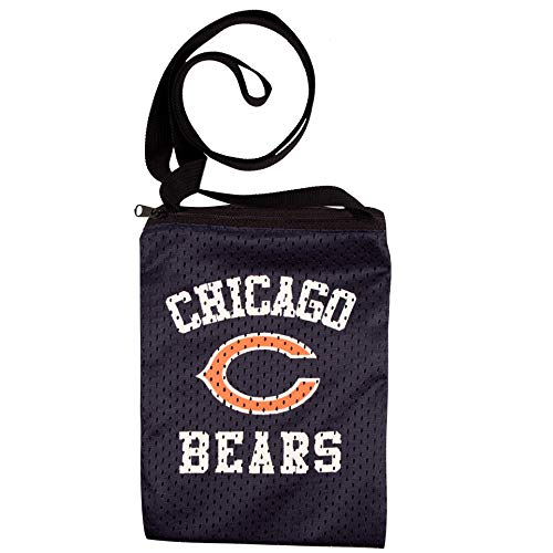 Littlearth NFL Game Day Tasche, Unisex, NFL Game Day Pouch Crossbody Bag made of Authentic Jersey Material, Chicago Bears, 6.25