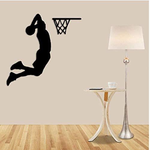 Deporte activo niños baloncesto habitación decoración vinilo arte extraíble pared pegatina belleza calcomanías decoración dormitorio póster Mural 42X43Cm
