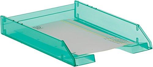 Archivo 2000 715VETL - Bandeja apilable organizadora para documentos en formato A4 y folio, color verde traslúcido