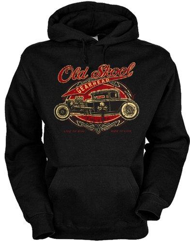 sabuy Kapuzenshirt - Old School Gearhead - Hot Rod Oldtimer - US Car Hoodie mit Motiv als Geschenk für Auto Fans mit Humor
