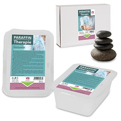 Paraffinbad Therapie Kosmetex für Gelenk Paraffin-Bäder, Parfümfrei, Paraffin-Wachs mit niedrigeren Schmelzpunkt, (4x 500ml)