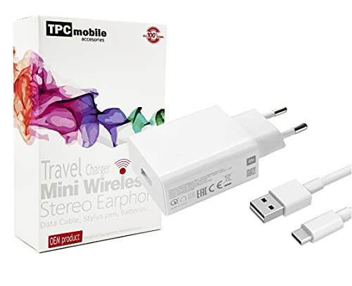 Cargador de Red 18W Carga Rápida 3.0 + Cable USB-C para Xiaomi...