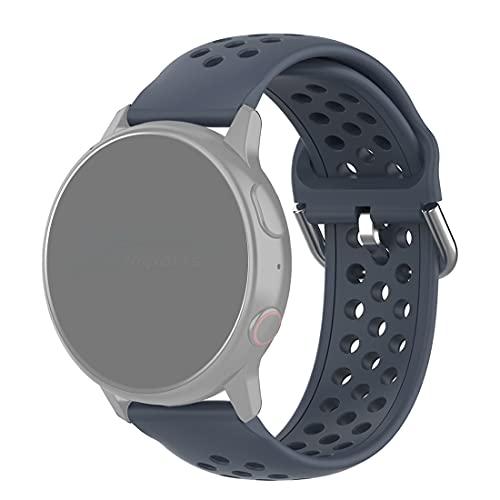 Pulseira 20mm Sport Moderna compatível com Galaxy Watch Active 1 e 2 - Galaxy Watch 3 41mm - Galaxy Watch 42mm - Amazfit GTR 42mm - Amazfit Bip / GTS - Marca LTIMPORTS (Chumbo)