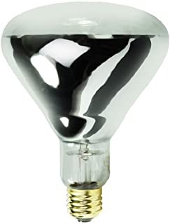 125 Watt - BR40 Light Bulb - Clear - Infrared Heat Lamp - 120 Volt - 6,000 Life Hours - Prism by Halco 204035
