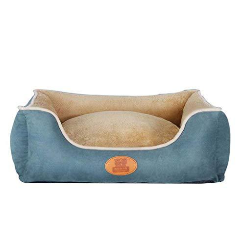 Q-HL Cama para Perros Extraíble Lavable Grande Mediano Pequeño Perro Cojín Caliente Perrera Estantería Universal para Mascotas Four Seasons (Color : Blue, Size : L)