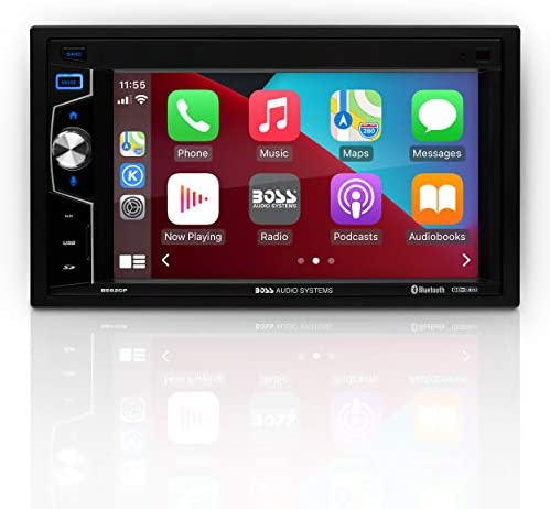 BOSS Audio Systems Elite Series BE62CP Apple CarPlay Car Multimedia Player Double Din Bluetooth product image