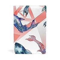 ブックカバー 文庫 a5 本 カバー 革 レザー 赤い海 エキゾチックな 魚の中 おしゃれ かわいい 文庫本カバー ファイル 資料 収納入れ オフィス用品 読書 雑貨 プレゼント