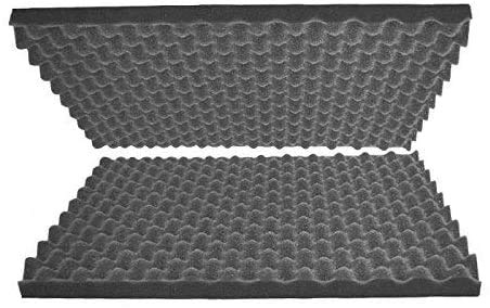 "Egg Crate Foam Cushion 2"" Thick 24""W x 24""L Acoustic Panels Sound Proof Foam Padding, Foam Sheets, Foam Pad, Dampening Foam, Convoluted Packing Foam"