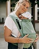 LIMAS Plus Babytrage Halfbuckle  56-104 cm   Bauchtrage & Rückentrage & Hüfttrage   ab Geburt bis Kleinkindalter   Baby Carrier   Jade