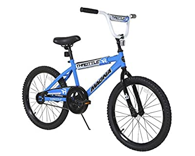 """Magna Throttle 20"""" Bike - Blue - For Ages 6-10 by Dynacraft"""
