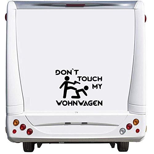 Pegatina Promotion Dont Touch My Wohnwagen Wohnwagen Caravan Camping Holiday Urlaub ca. 60cm Aufkleber Autoaufkleber Sticker Womo Wowa