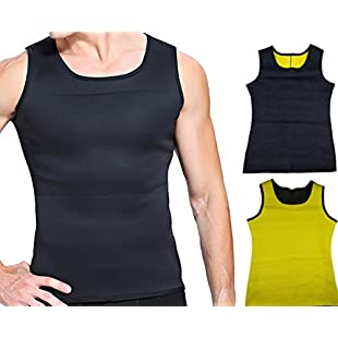 Youkap Men's Compression Shirt Slimming Vest Warm Instant Weight Loss Belly Fat Love Handles Remover Body Shaper:Thecricketmaster