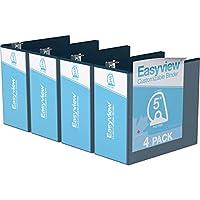 Easyview プレミアム アングルDリング カスタマイズ可能 ビューバインダー 6個パック (5インチ ネイビーブルー)