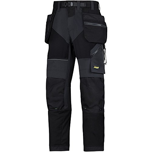 Snickers Workwear 69020404044 FlexiWork werkbroek + m. HP 60 zwart