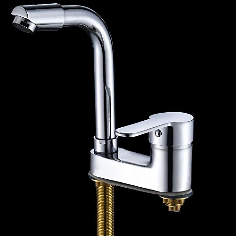 S-LENHY Wasserhahn Becken, Kupfer, Doppelloch, drei Lcher, warm und kalt, Bad, M