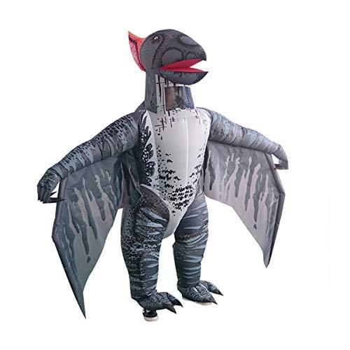 OHC Traje del Funcionamiento del cir Disfraz de Halloween Inflable pterodctilo Broma del Traje del Partido del Traje/Inflable (Size : Adult Size (160-200CM))