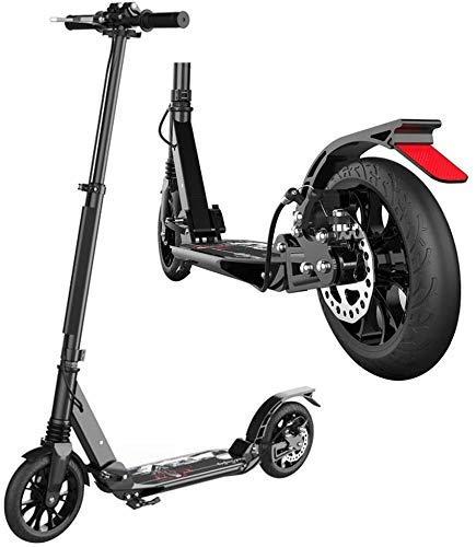 CHNG Scooters para Adultos Patinete para Adultos con Ruedas Grandes Patinete de cercanías Plegable de Doble suspensión con Freno de Mano de Disco Soporta 220 Libras No eléctrico