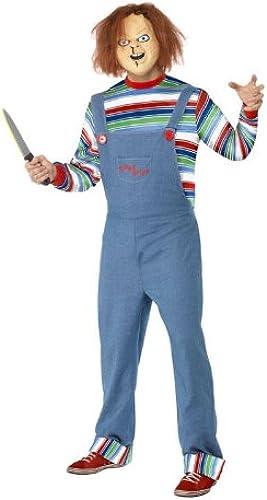 Herren Kostüm Chucky die mörderpuppe mörder Killer Halloween Größe L