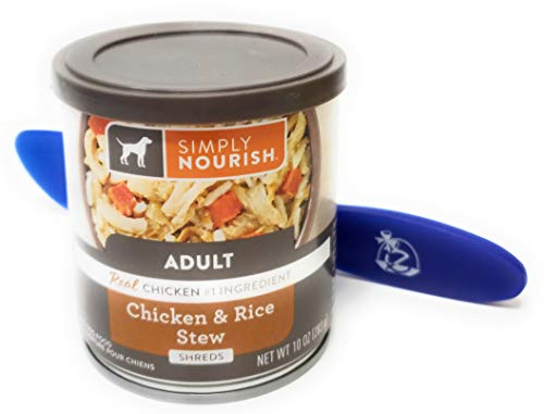 Simply Nourish Wet Canned Dog Food, 10oz (Chicken and Rice Stew: Pack of 12) and Especiales Cosas Spatula