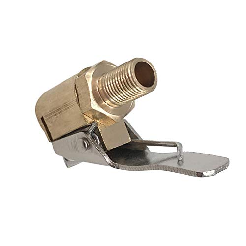 heacker Adaptador de Conector de Abrazadera de Coche automático de latón de 8 mm de Aire del neumático de la Rueda Chuck inflador de neumáticos válvula de la Bomba de Clip